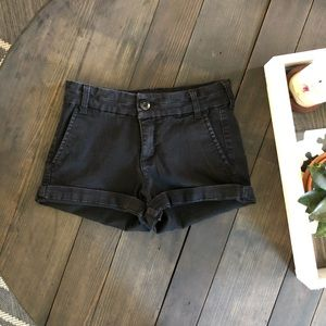 Black Stretch Jean Shorts!